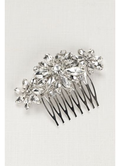 David's Bridal Grey (Starburst Faceted Stone Comb)