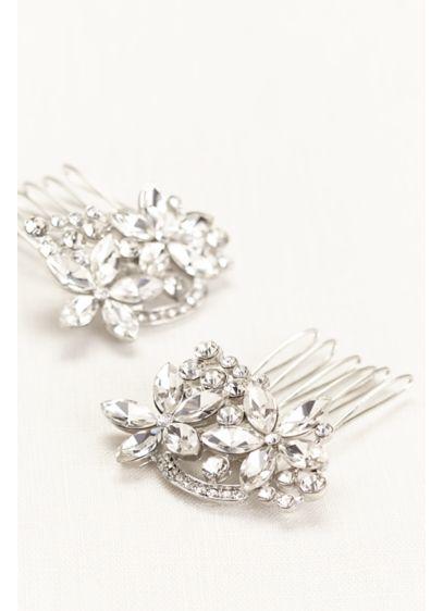 David's Bridal Grey (Floral Mini Comb Duo)