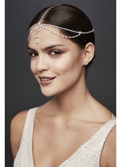 Teardrop Crystal Goddess Headband - Wedding Accessories
