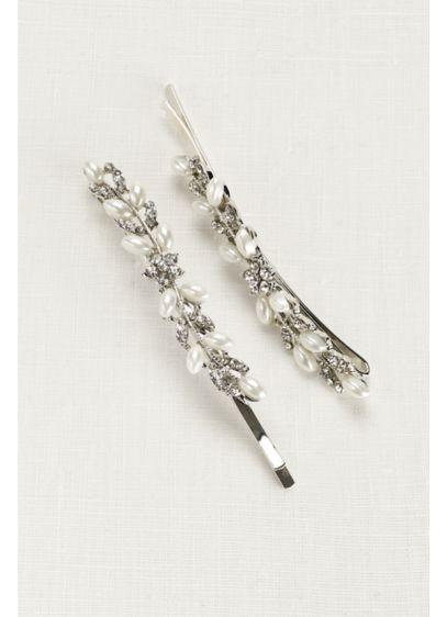 Pearl and Rhinestone Vine Bobbies - Wedding Accessories