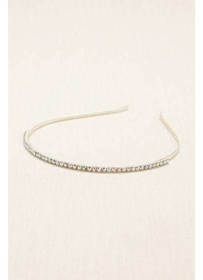 Single Row Iridescent Crystal Hard Headband - Wedding Accessories