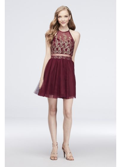 Short Ballgown Halter Cocktail and Party Dress - Choon