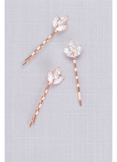 David's Bridal Pink (Triple Petal Crystal Hair Pin Set)
