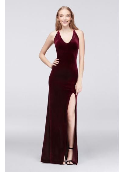 Long Sheath Spaghetti Strap Cocktail and Party Dress - Teeze Me