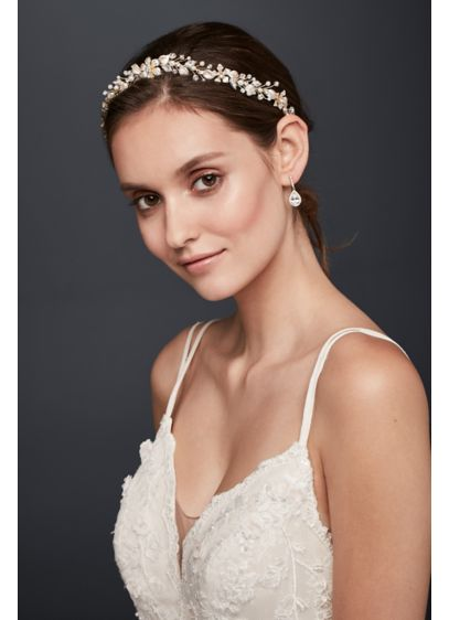Filigree Flower Crystal Headband - Wedding Accessories