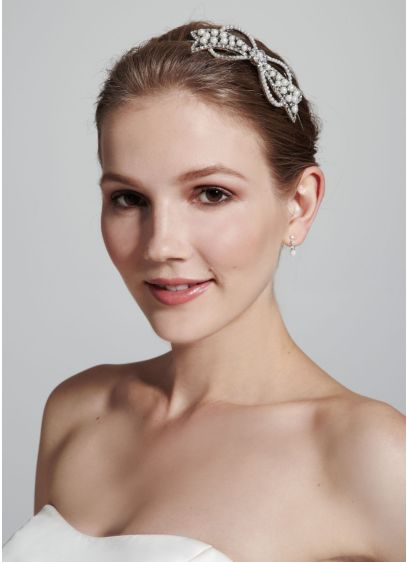 Casted Pearl Bow Headband - Wedding Accessories