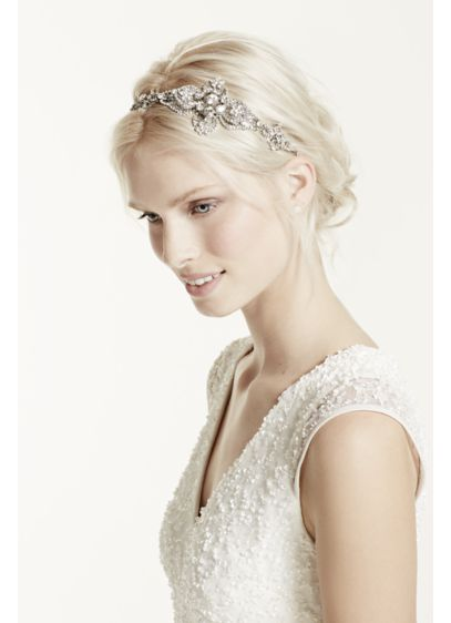 Large Casted Flower Headband - Wedding Accessories