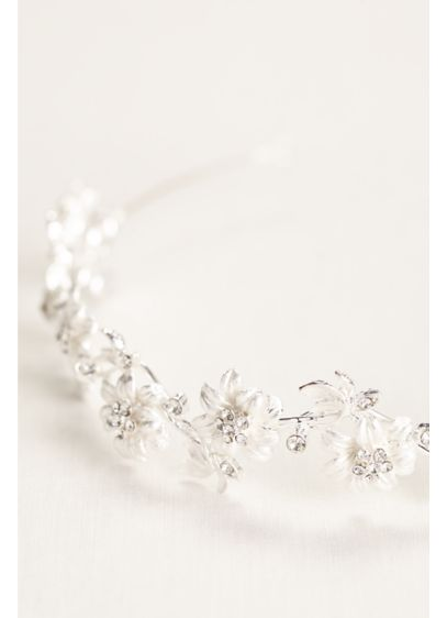 David's Bridal Grey (Casted Flower Zigzag Head Band)