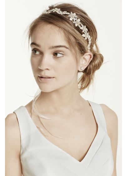 Floral Organza Ribbon Tie Back Headband - Wedding Accessories