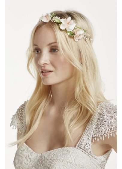 David's Bridal Pink (Soft Tieback Flower Headband)