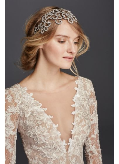 Pave Scrollwork Headband - Wedding Accessories