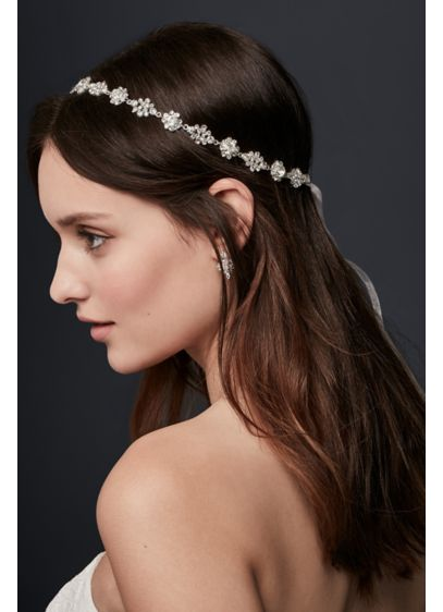 Crystal Burst Ribbon Headband - Add some sparkle to your wedding day 'do