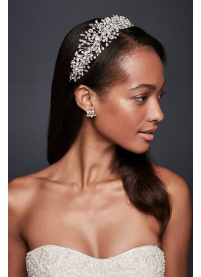 Scattered Crystal Petals Headband - Wedding Accessories