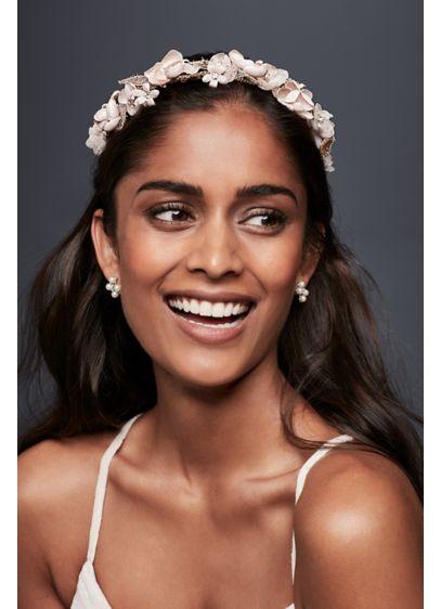 Blush Floral Flexible Headband - Wedding Accessories