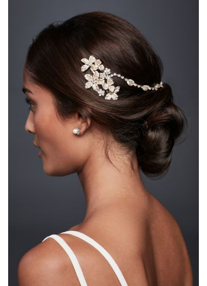 Gilded Floral Hair Swag - Wedding Accessories
