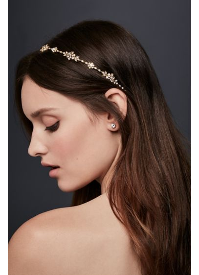 Headband with Crystal Clusters - Wedding Accessories