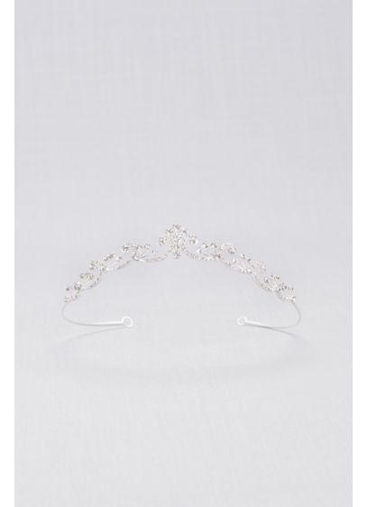 Crystal Pave Filigree Petite Headpiece - Wedding Accessories