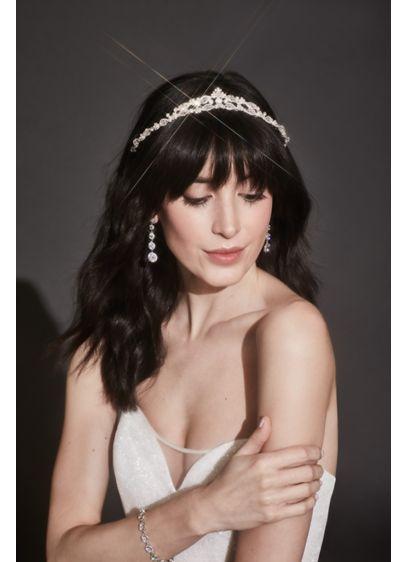 David's Bridal Grey (Crested Crystal Embellished Tiara)