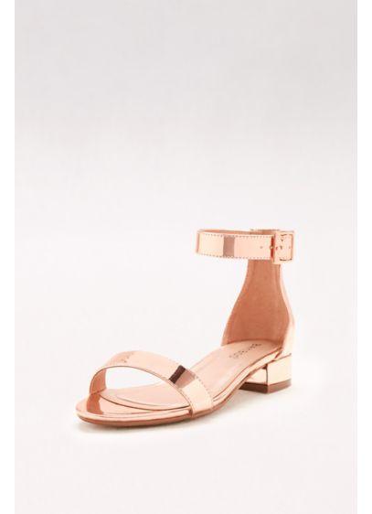 8aa0b008286a0 High-Shine Block-Heel Sandals | David's Bridal