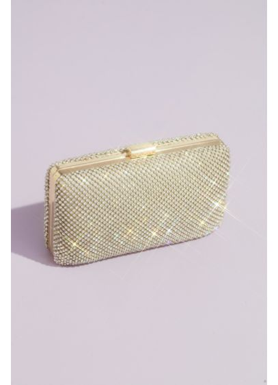 Crystal Minaudiere Evening Clutch with Chain Strap - Carry all-important odds and ends in this classic