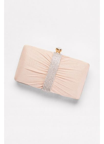 Shimmer Mesh and Rhinestone Clutch - Wedding Accessories