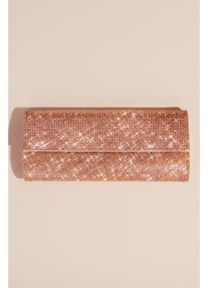 Metallic Baguette Foldover Crossbody Clutch - Bring this sleek and chic baguette clutch with