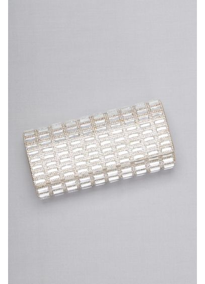 Pave and Baguette Studded Clutch - Wedding Accessories