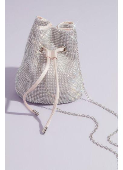 Satin-Lined Crystal Crossbody Bucket Bag - Wedding Accessories