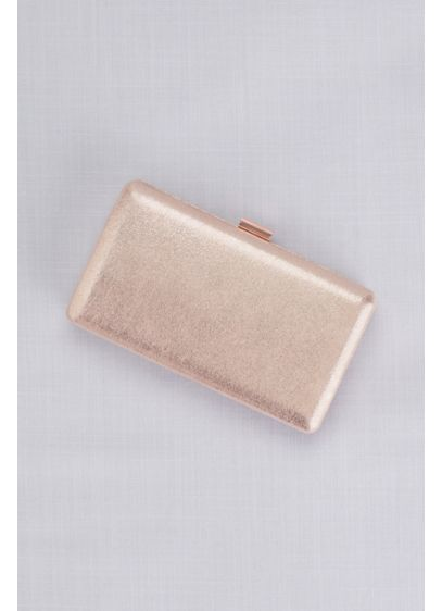 Metallic Shimmering Box Clutch - Wedding Accessories