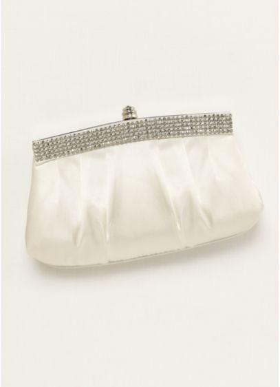 David's Bridal Ivory (Crystal Trimmed Clutch)