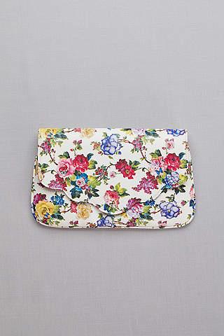 Bolsa Tipo Clutch Con Estampado Floral
