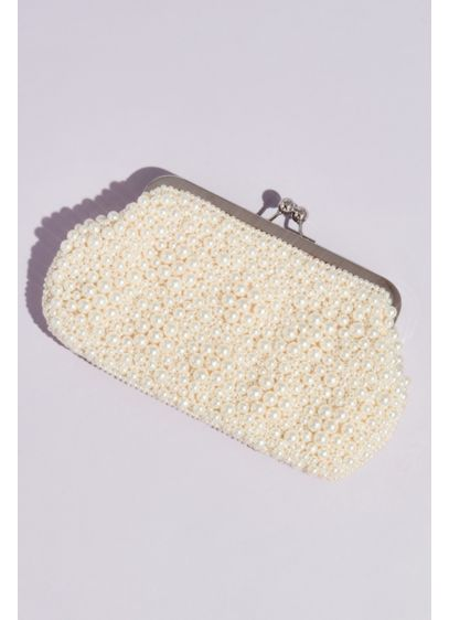 Pearl Encrusted Kiss Lock Clutch - Wedding Accessories