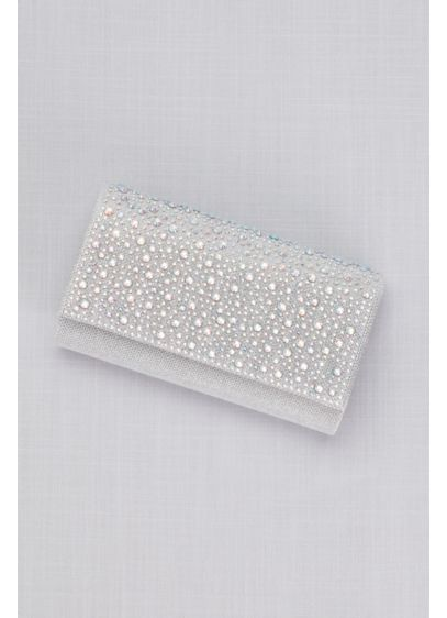 Scattered Crystals Flap Clutch - Wedding Accessories