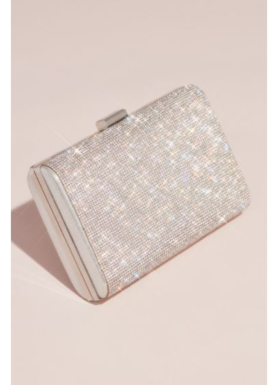 Allover Crystal Minaudiere - Complement a shimmering dress or add a pop