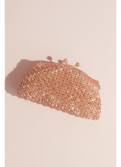 Curved Crystal Lattice Clutch - Wedding Accessories