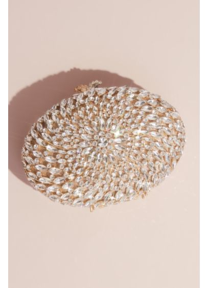 Swirling Crystal Oval Clutch - Wedding Accessories