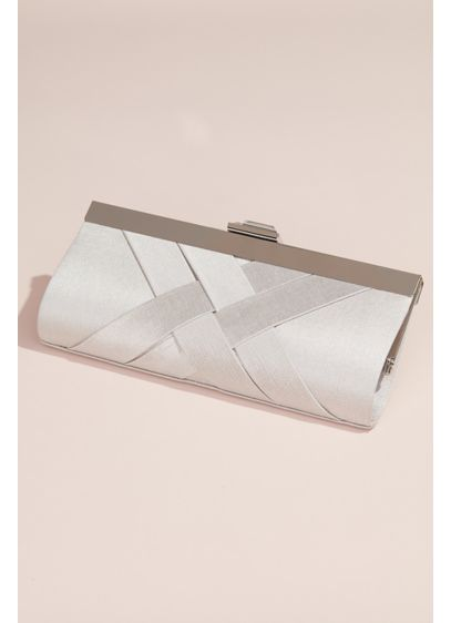 Woven Satin Frame Clutch - Wedding Accessories