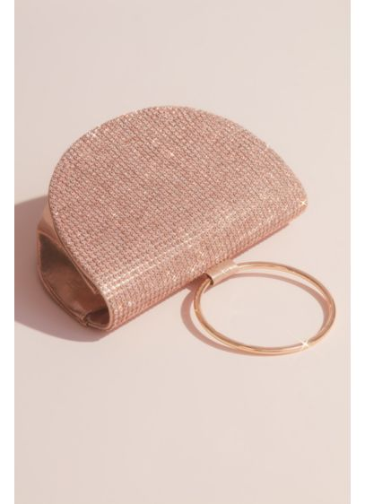 Nina Pink (Crystal-Studded Half Moon Ring Clutch)