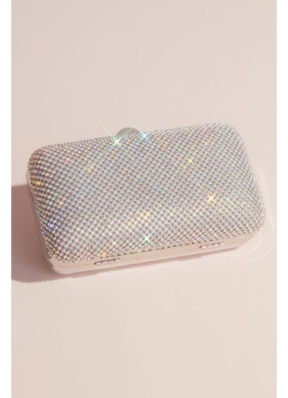 Crystal Mesh Minaudiere with Organza Back - Wedding Accessories