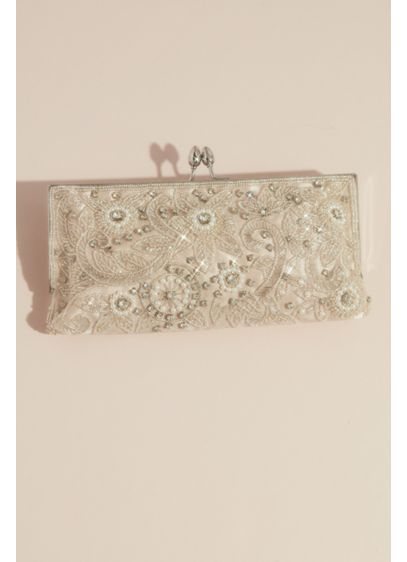 Floral Flourish Crystal Encrusted Clutch - The most romantic way to carry your big-day
