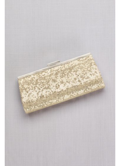 Allover Sequin Frame Clutch - Wedding Accessories
