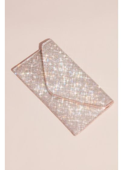 Sasha Pink (Crystal Studded Envelope Clutch)