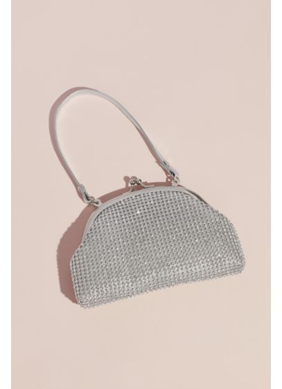 Crystal Mesh Soft Flower Girl Bag - Metallic mesh is covered in crystals on this