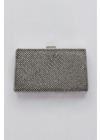 Grey (Crystal Mesh Frame Clutch)