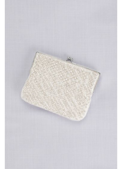 Crystal Beaded Lattice Clutch - Wedding Accessories