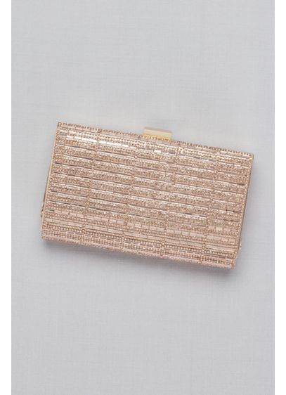 Baguette and Pave Crystal Frame Clutch - With glitz and glam to spare, this crystal-studded