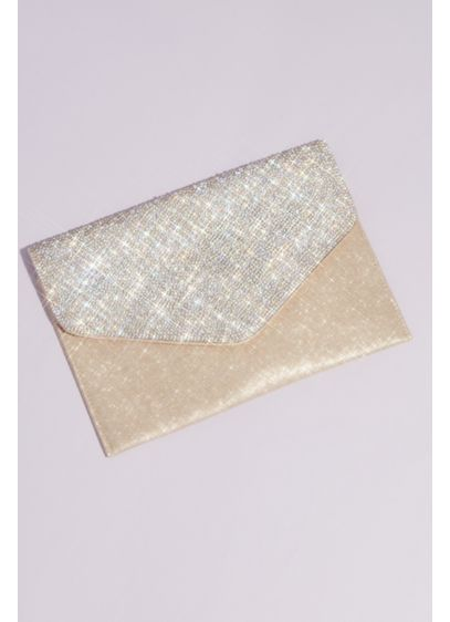 Crystal Flap Glitter Envelope Clutch - Double down on the dazzle with this megawatt