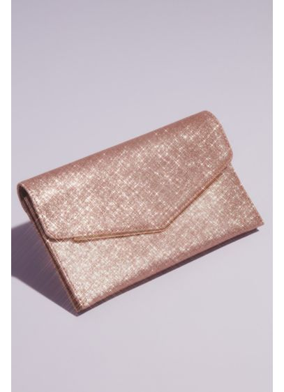 Glitter Envelope Clutch with Metal Edge - Slip your essentials into this eye-catching glitter envelope