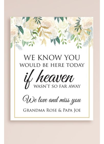 Personalized If Heaven Werent So Far Away Sign - Remember your departed loved ones with this touching