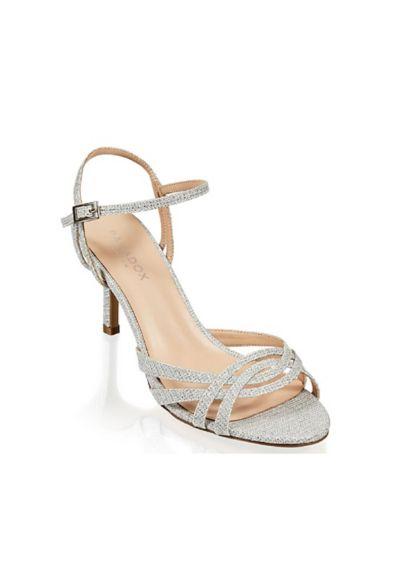 Pink Paradox Grey (Metallic Glitter Mesh Strappy Sandals with Heel)